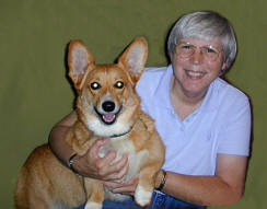 Patricia Walter and PJ her Welsh Corgi