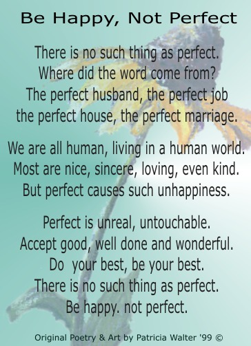 Be Happy, Not Perfect 1