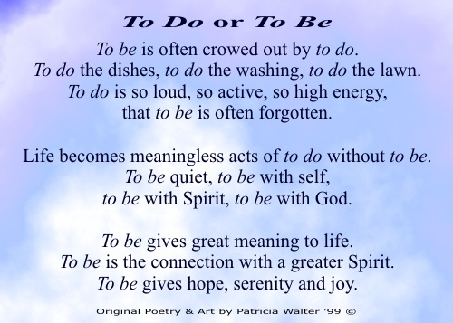 To Do or To Be 1