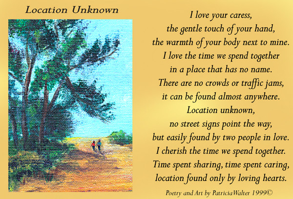 Locaation Unknown poem by Patricia Walter