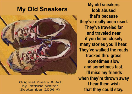 My Old Sneakers by Patricia Walter