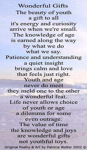 wonderful Gifts Poem by Patricia Walter