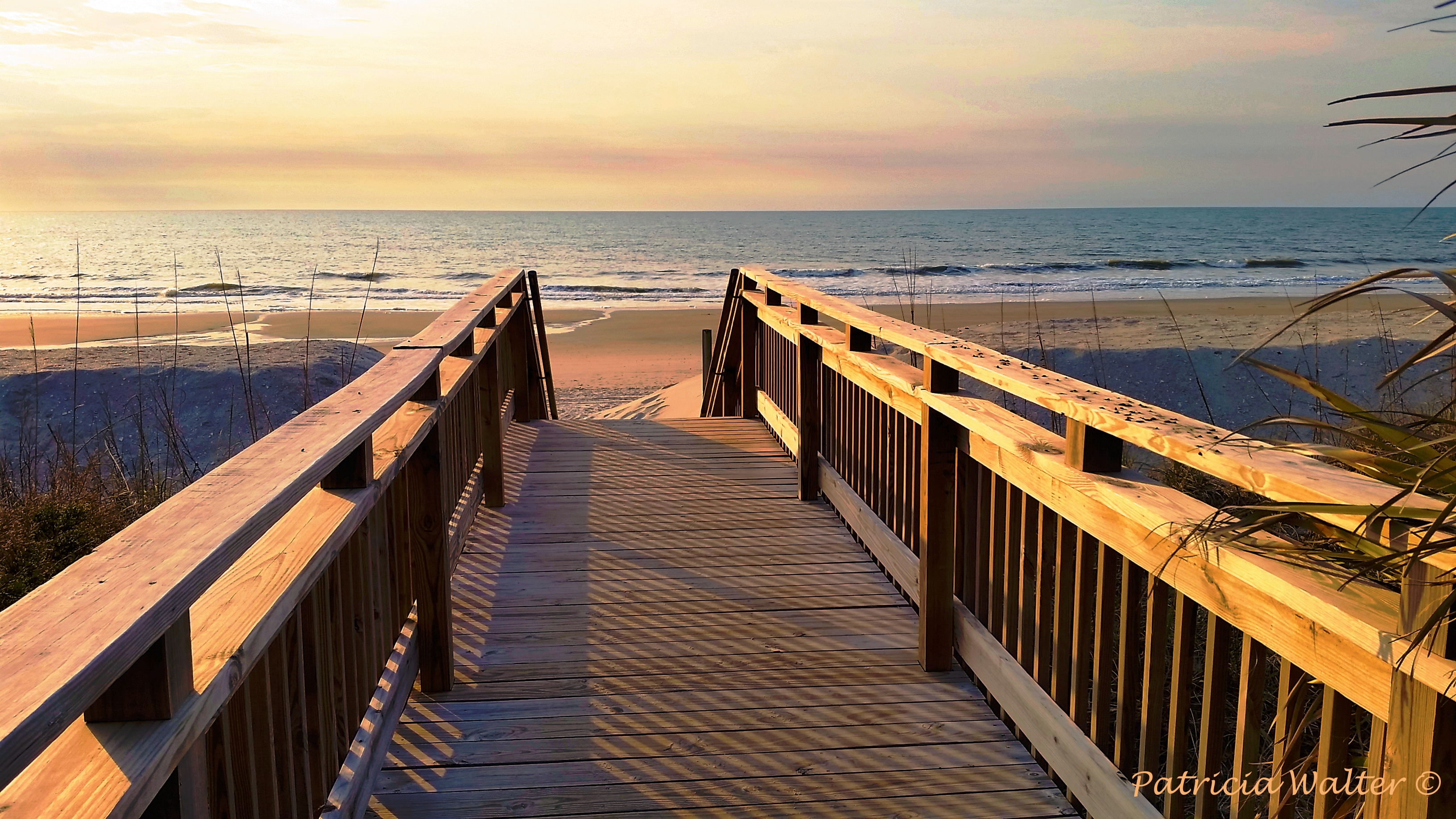 Walk to the Beach at Sunrise at Myrtle Beach 2018