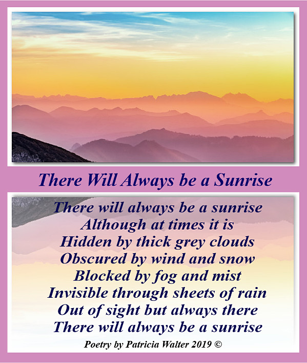 There will always be a sunrise 2019