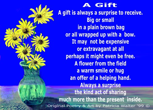 A Gift Poem by Patricia Walter