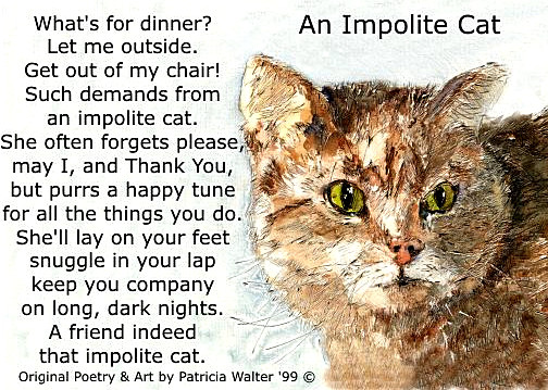 An Impolite Cat Poem by Patricia Walter