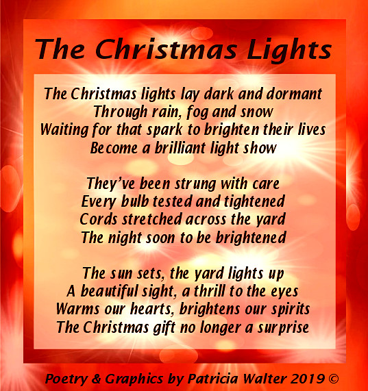 The Christmas Lights Poem by Patricia Walter