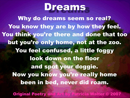 Dreams Poem by Patricia Walter