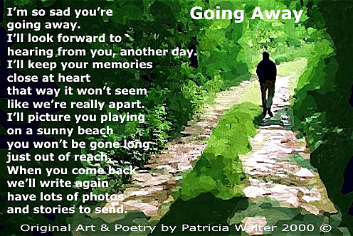 Going Away Poem by Patricia Walter