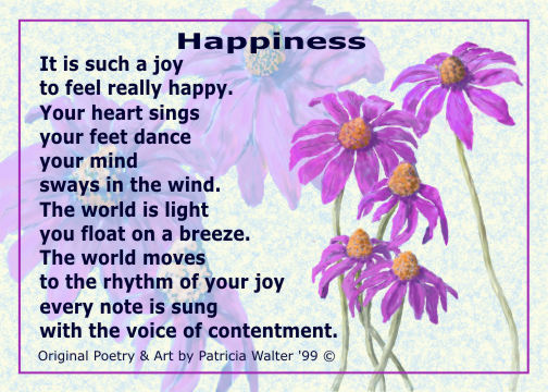 ,Happiness Poem by Patricia Walter