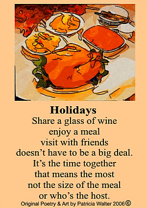 Holidays Poem by Patricia Walter