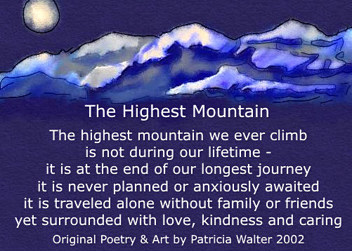 The Highest Mountain poem by Patricia Walter